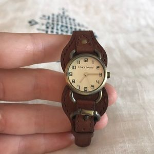 Tokyobay brown leather watch